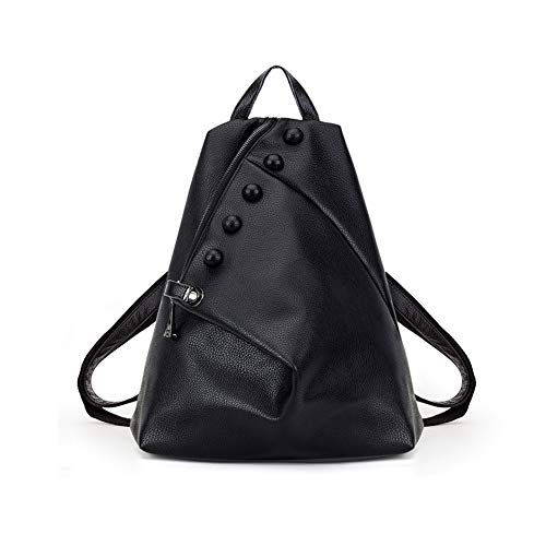 Mochila de Cuero Vintage Bandolera La Bolsa Hombro Messenger Bag Laptop Backpack Mochilas Sport para Hombres Mujer,30 * 15 * 33cm