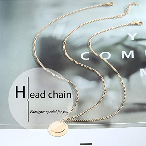 Fdesigner Boho Coin Head Chain Gold Fashion Disc Headband Jewelry Festival Hair Accessories Prom Wedding Headpieces for Women and Girls 5