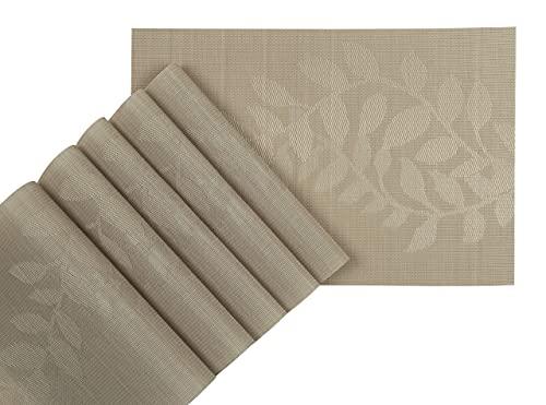 MosQuick® 6 Pcs PVC Table Mat/Place Mat for Kitchen & Dinning Table Size 45 x 30 cm
