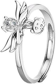 Jyuesi La Princesse d/écoupe Le myst/érieux Arc Ciel Jaune Demande de Mariage Cadeau de fian/çailles Bague de Mariage Homme//Femme Bague de Mariage Homme//Femme Taille 5-12 en
