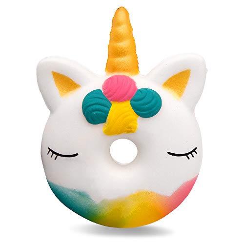 MMTX 2018 New Squishies Toys, Unicornio Donut Squishies Super Soft Cut Squeeze Toys Kawaii Cake Cream Perfumado Squishy Jumbo Stress Relief Descompresión de Regalo para niñas (Unicorn Donut)