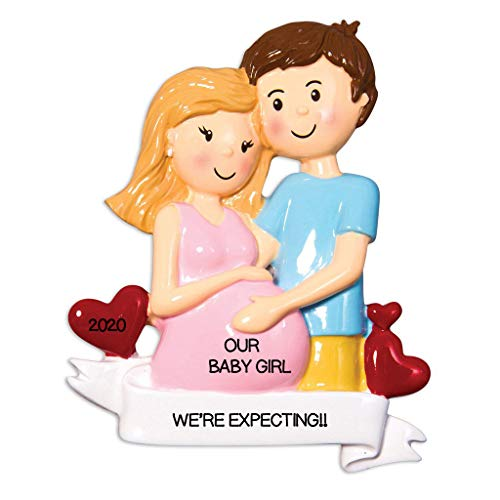Grantwood Technology Personalized Christmas Ornaments Baby's First Expecting Couple People/Personalized by Santa/Pregnant Ornament/Pregnant Christmas Ornament