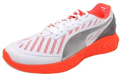 PUMA Ultimate Ignite, Zapatillas para Correr de competición Mujer, Melocotón Fluorescente Blanco Multicolor, 37.5 EU