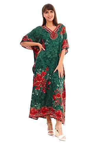 Looking Glam Nuovo da Donna, Oversize Maxi Kimono Kaftan Tunica Abito Caftano Taglia Unica