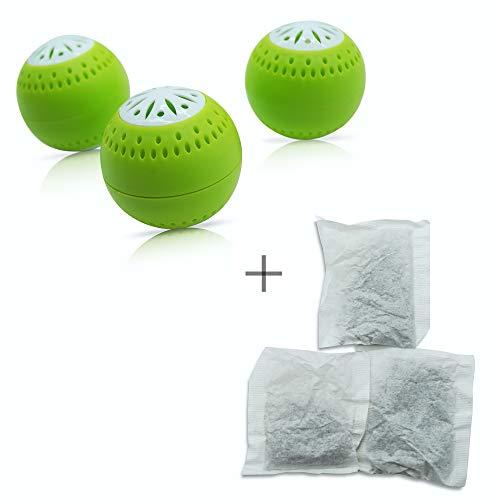 Natürlicher Geruchsneutralisierer 2-in-1 Funktion mit Aktivkohle - inkl. 3 Nachfüllpacks für eine lange Wirkungsdauer - Geruchsentferner Luftentfeuchter kühlschrank-deo duft geruchskiller frisch
