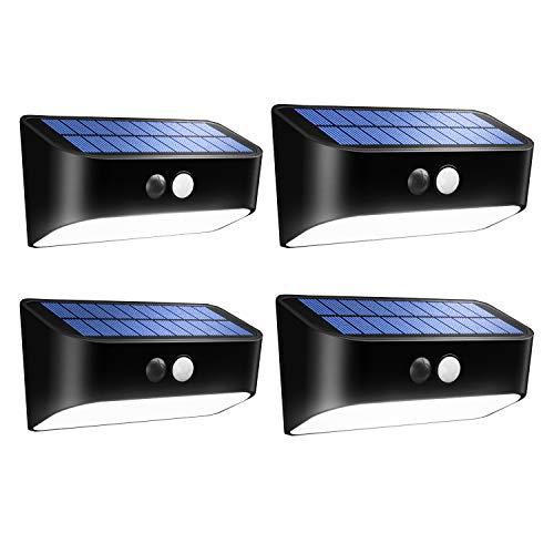 Solarleuchten für Garten mit Bewegungsmelder, Wasserdicht LED Solarlampen Solarlichter für Garten, Wand, Flur, Treppen, Hof, Einfahrt, Gehwegen (4 Stck.-Mit Bewegungsmelder)