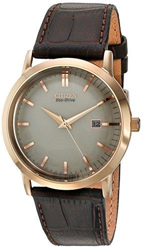 Citizen BM7193del hombres Eco-Drive Rose oro tono FECHA reloj