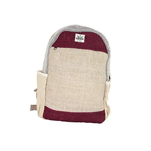Hanf-Rucksack – umweltfreundlicher Bio-Rucksack aus Hanf – exklusives Hippie-Design