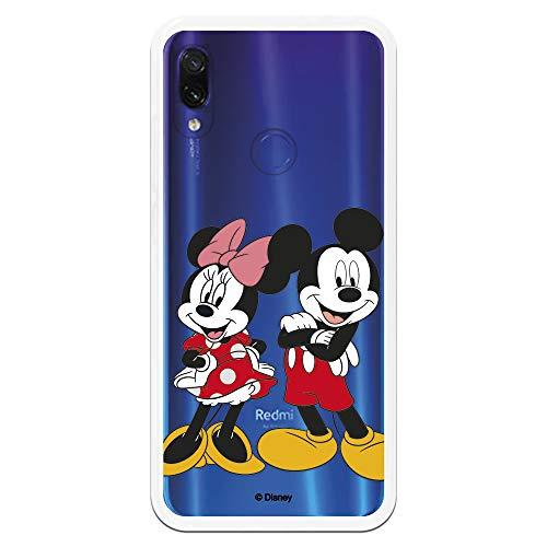 Funda para Xiaomi Redmi Note 7-Note 7 Pro Oficial de Clásicos Disney Mickey y Minnie Posando para Proteger tu móvil. Carcasa para Xiaomi de Silicona Flexible con Licencia Oficial de Disney.