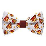 Slice of Pizza bow tie fast-food pattern pre-tied shape, by Bow Tie House...