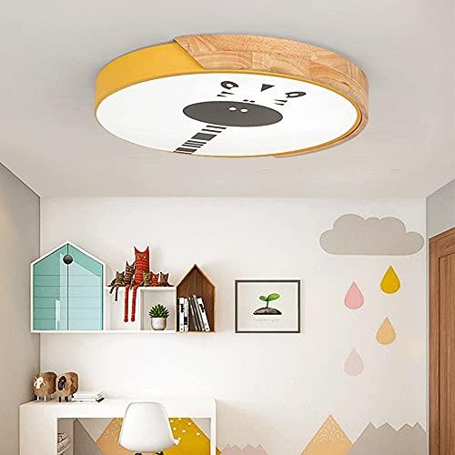 WANGYAN Lámpara De Techo LED Luz De Techo De Montaje Empotrado con Luz Blanca Redonda Creativa 6500k Accesorio De Iluminación Fácil De Instalar De Madera De 19 Pulgadas 40W