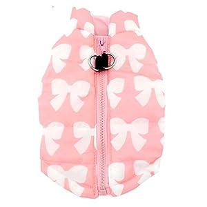 Smalllee_Lucky_Store Manteau harnais pour petit chien/chat Vêtement d'hiver rembourré