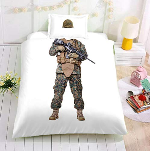 AIKIBELL 3D bedding-digital printing-special forces-bedding set-duvet cover + pillowcase 2-3 bed covers-teenagers-Christmas gift-200×230cm