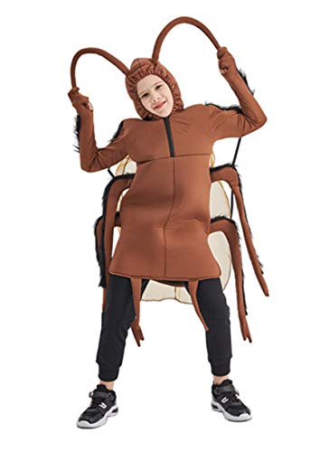 Honeystore Kid's Funny Cockroach Costume Halloween Party Role Play Costume Brown