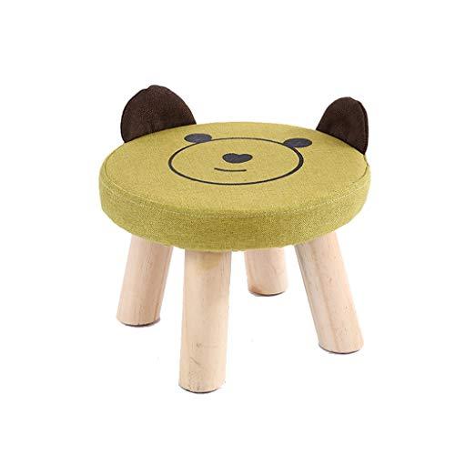 stool Sofá hogar algodón y lino perro simple creativo sala de estar pequeño banco perezoso zapatos sillas (color verde)