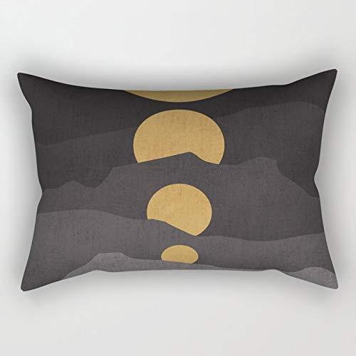Yuanmeiju Rise of The Golden Moon Rectangular Funda de Almohada Fundas de colchón 20x30 Inch