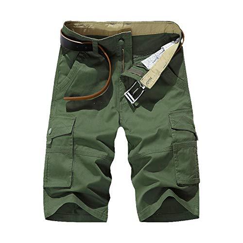 LY4U Shorts de Camuflaje Militar para Hombre Pantalones Cortos de algodón Informales de Verano con múltiples Bolsillos, Senderismo, Pesca, Acampada, Trabajo, Carga, Combate, Pantalones