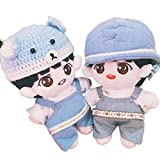 VogueMing 20cm/8'' Kpop EXO Plush Chanyeol Doll Toy with T-Shirt + Rompers【no hat】 Xmas Gift (Set B: Doll+Tshirt+Rompers, The hat was not Included.)