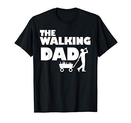 The Walking Dad I Vatertag Bollerwagen Saufen Bier Ironie T-Shirt