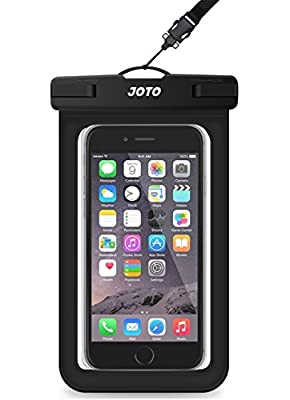 "JOTO Universal Waterproof Pouch Phone Dry Bag Underwater Case for iPhone 11 Pro Max XS Max XR X 8 7 6S Plus Galaxy Pixel up to 6.8"", Waterproof Case for Pool Beach Swimming Kayak Travel -Black"