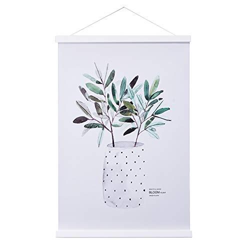 Sanauto Listones para póster magnéticos de madera, 70 x 100 cm, 70 x 50 cm, 70 x 70 cm, color blanco