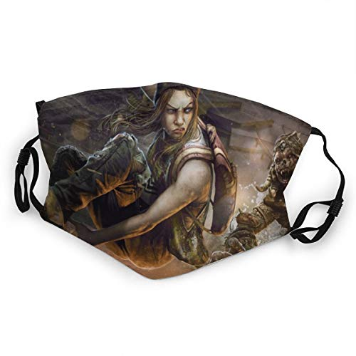 Yosbapw Cute Face Protection Dead By Daylight Game Art Skateboard Video Games Kids Cover Men's And Women's Mouth Face Cover, Breathable Nose Covering Cover Motorcycling Fishing Travel Outdoor