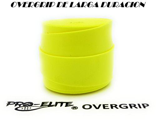 overgrip Pro Elite Premium Perforado Amarillo Flúor: Amazon.es ...