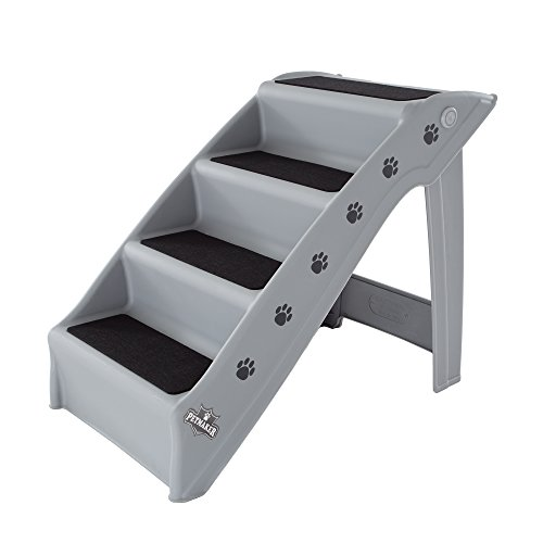Folding Plastic Pet Stairs Durable Indoor or Outdoor 4 Step Design