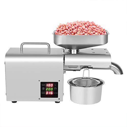 TBVECHI Home Automatic Oil Press Machine, Commercial Nuts Seeds Oil Presser Oil Extractor Digital Temperature Control