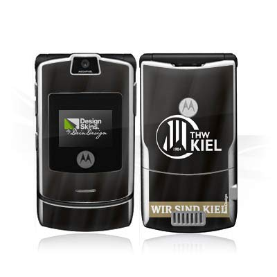 DeinDesign Folie kompatibel mit Motorola RAZR V3i Aufkleber Skin aus Vinyl-Folie Fanartikel THW Kiel Handball