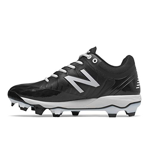 New Balance Men's 4040 V5 TPU Molded Baseball Shoe, Black/White, 9 M US
