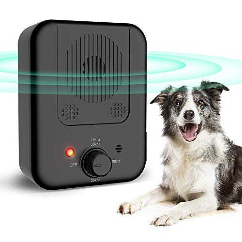 ULTPEAK Dog Barking Control Device, Sonic Dog Bark Control, USB Rechargeable Sonic Bark Deterrents Bark Controller Indoor & Outdoor Use 30 Ft Range Safe for Dogs & Human