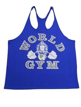 World Gym Stringer Tank Tops- STT01- Royal Blue- M