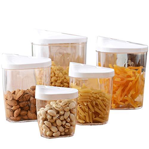 Contenants de céréales de qualité supérieure 5 conservateurs de nourriture secs et hermétiques, parfaits pour le sucre de farine de céréales sans BPA