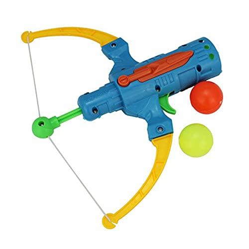 Kpcxdp Pistola de Tenis de Mesa Deportiva al Aire Libre Pistola de Bola de plástico Juego de Arco Aleatorio Colorido Tiro de Juguete Flecha Flecha fronteriza Juguetes para niños
