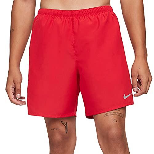 Nike Challenger Men's Brief-Lined Running Shorts CZ9066-657 (RED/Silver), Medium