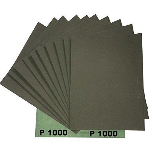 Ludwig Lacke Wasserschleifpapier 25 Blatt Grün Nassschleifpapier Körnung 1000
