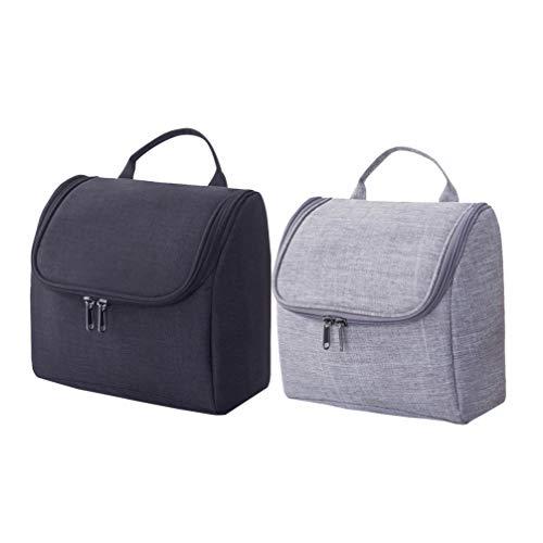Topathy – 2 sacos de cosméticos de grande capacidade, sacos de maquiagem Hanigng, sacos de higiene para viagem à prova d'água