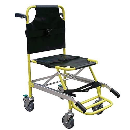 Silla de Escalera Tipo Camilla, traslado de Pacientes de Emergencia médica, Silla de evacuación de 4 Ruedas, Elevador de Silla de Escalera Plegable para Transporte de Ambulancia