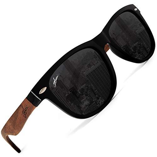 glozzi Gafas de sol de madera polarizadas para hombres y mujeres - Nuez