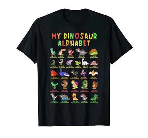Tipos De Dinosaurios Alfabeto Dino Identificación Camiseta