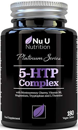 Complejo 5-HTP con Cereza Montmorency, B6, Magnesio y L-Teanina