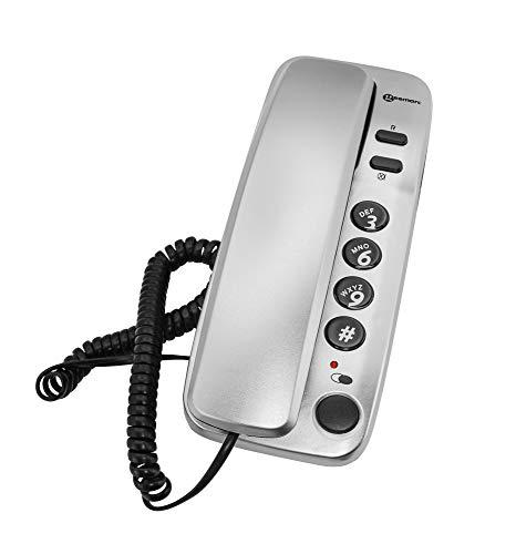 Geemarc Marbella Gondola - Teléfono fijo, color plateado [importado]