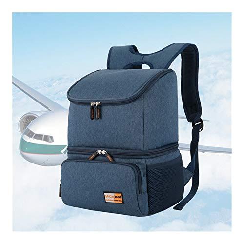 HDS De nouvelles Grand Cooler Sac femmes double couche Sacs à dos isolés Ice Food Pack d'emballage Container Glacière Themal Bag Livraison (Color : Blue)
