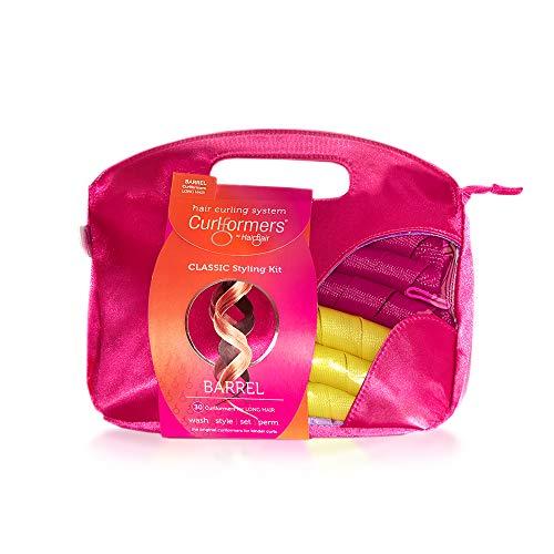"""Kit Curlformers - 24 bigoudis/2 crochets - boucles extra-larges - cheveux mi-longs de 16""""/40 cm max - sans chaleur"""