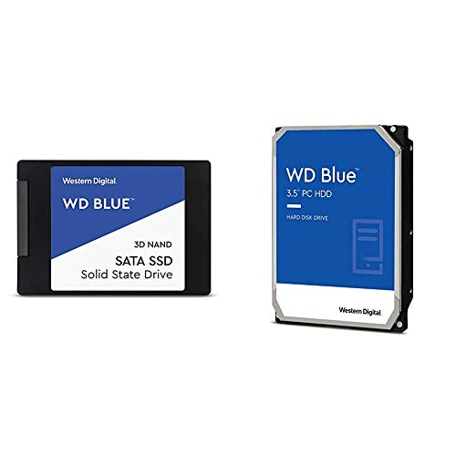Western Digital SSD 2TB WD Blue PC PS4 2.5 Inch Internal SSD WDS200T2B0A-EC [Domestic Authorized Dealer] & Western Digital HDD 6TB WD Blue PC 3.5 Inch Internal HDD WD60EZAZ-EC