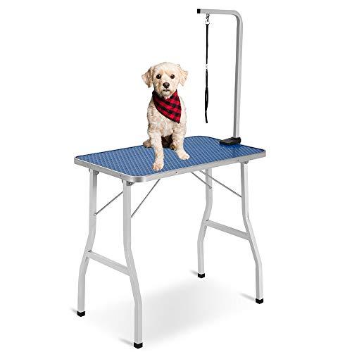 Liuwusah - Mesa de aseo para perros, portátil, ajustable y ajustable, para perros pequeños o medianos