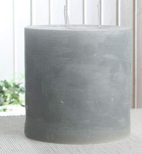 Rustik-Dreidochtkerze, 15 x 15 cm Ø, grau