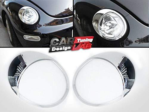 Scheinwerferblenden aus Chrom, Augenlider, für VW Beetle 1999–2005, 2Stück