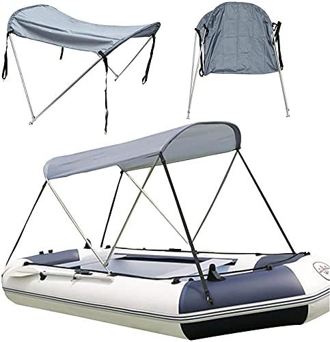 Pulley Tienda campaña Portátil, baldaquino para Barcos hinchables,Tienda Barco para 4 Personas,toldo Sol Bote Agua toldo Plegable,Usado para Kayaking Pesca Drifting Accesorios